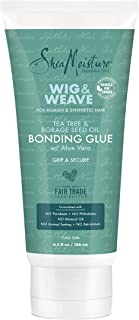 SheaMoisture Bonding Glue Hair Cream for Wig and Weave, Tea Tree and Borage Seed Water-based Hair Product, 6.3 Ounce