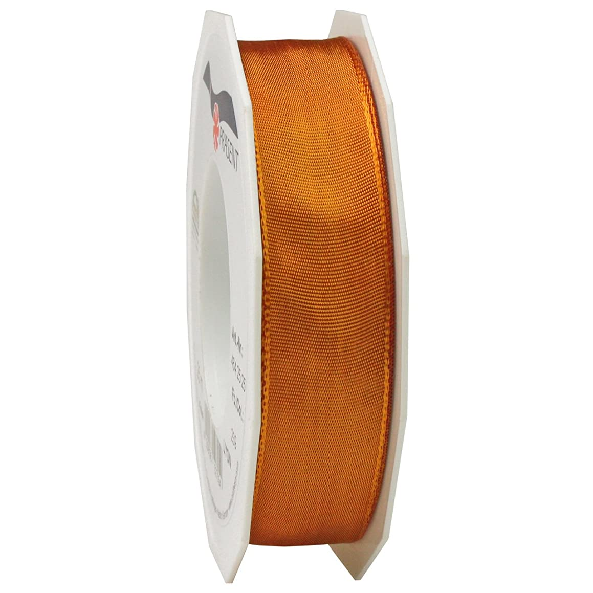 Morex Ribbon French Wired Lyon Ribbon, 1-Inch by 27-Yard Spool, Pumpkin