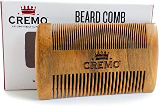 Cremo Dual-Sided 100% Sandalwood Beard Comb That Is Static Free And Won't Pull Or Snag Facial Hair