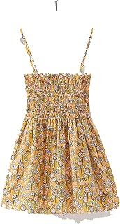 Balalei 1-7 Years Kids Girl Sling Dresses Summer Toddler Baby Girls Cotton Sleeveless Print Flower Princess Dress