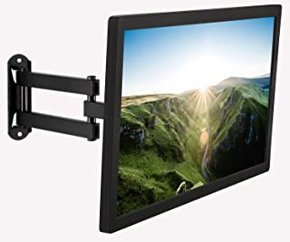 Mount-It! Small TV Monitor Wall Mount Arm | VESA Wall Mount Bracket | Fits 19 20 21 22 23 24 25 26 27 Inch Display Screens | 75 100 VESA and RV Compatible | Tilts and Swivels | Holds up to 40 Pounds
