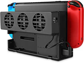 TNP Cooling Fan for Nintendo Switch - Dock Mount Console Cooler w/ 3 Fans, Adjustable Speed Temperature Control Station Pad, USB Heat Exhaust Ventilation, Gaming Accessories for Original Switch Stand