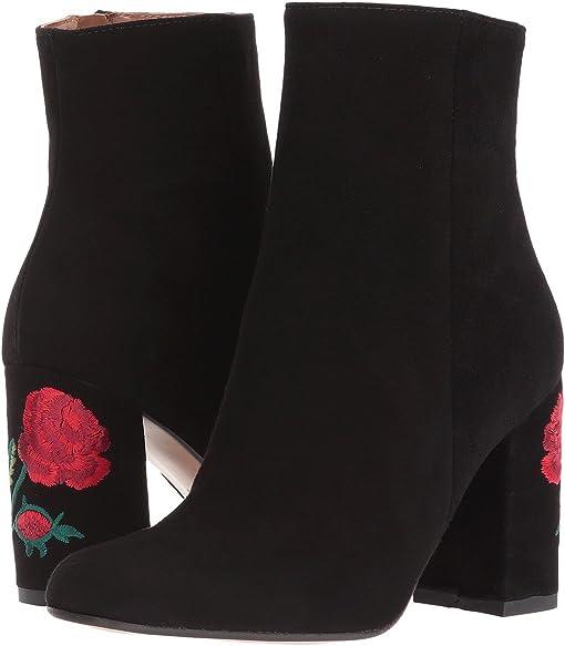 Black Suede/Multi Heel