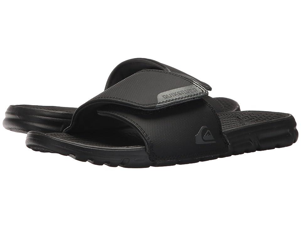 Quiksilver Amphibian Slide Adjust (Black/Black/Grey) Men