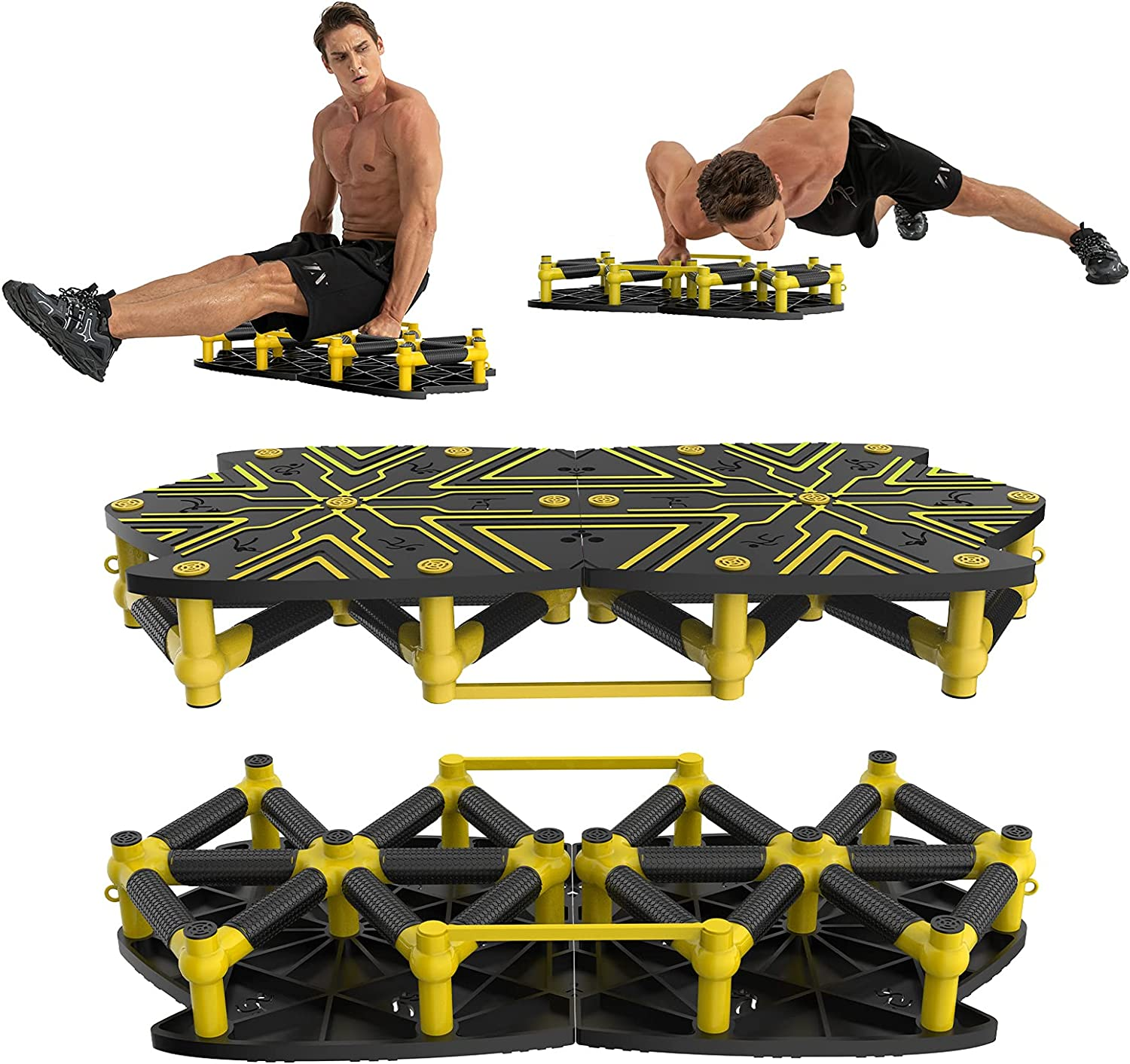 Push Up outlet Board System 10 In Portable Home Gym Super sale Equipment 1 Workout