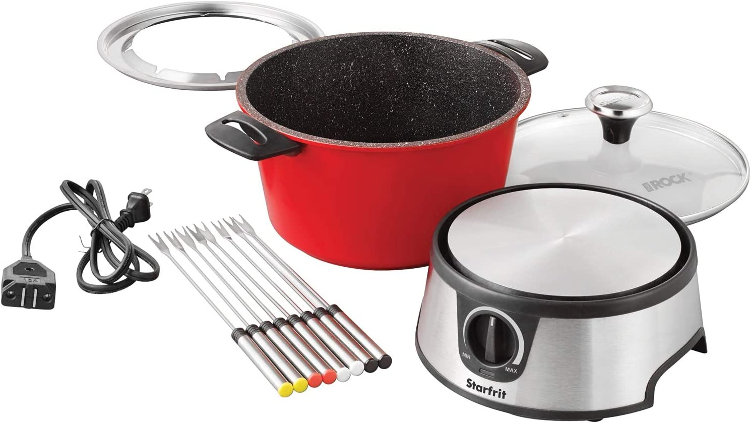 THE Special sale item ROCK by Starfrit T024704 Set Fondue 3.2-Quart Electric safety One