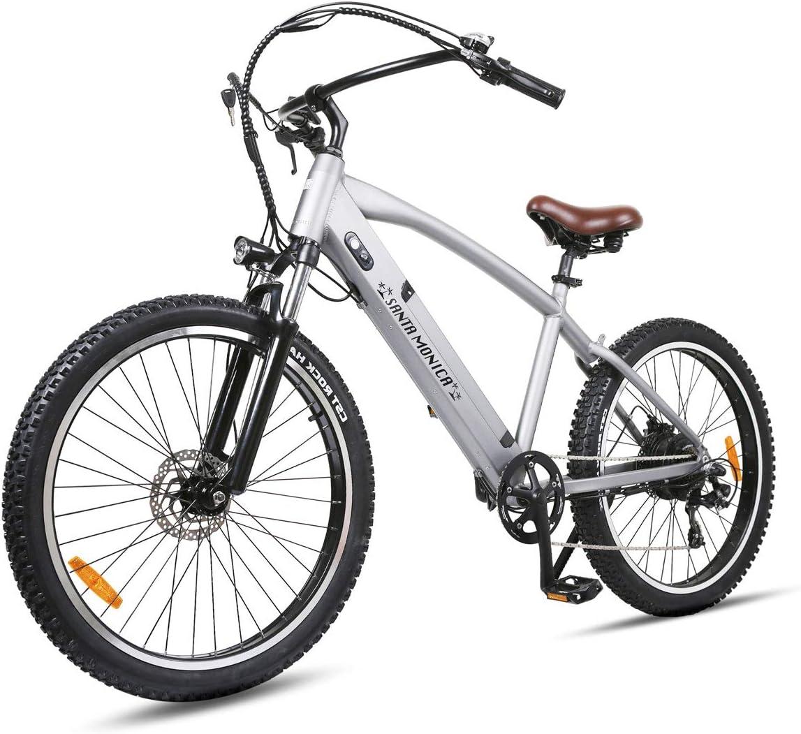 NAKTO Super intense SALE 500W Ebike Electric Translated Bicycle Ebik Monica 26'' Santa Adults