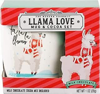 Thoughtfully Gifts, Llama Love Mug Set, Includes Mini Ceramic Mug and Milk Chocolate Cocoa Mix