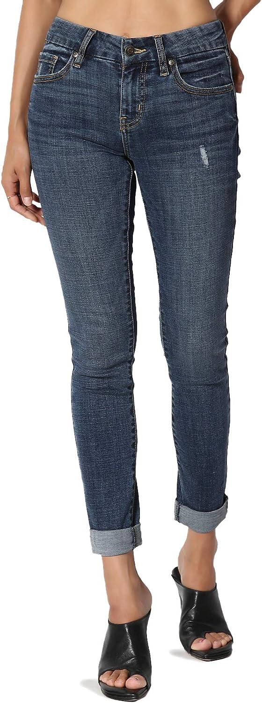 TheMogan Vintage Distressed Washed Stretch Denim Skinny Jeans