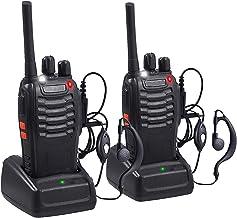 Aottom Walkie Talkie Recargable PMR 446 Walkies Profesionales 16 Canales 3 km Walkie Talkie Profesional con Cargador USB y Auriculares (2 PCS)