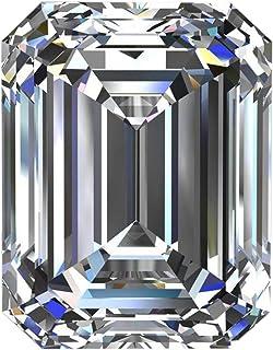 Gemhub VS+ Emerald Cut Moissanite White E/F Color Moissanite Faceted Emerald Moissanite Loose Stone for Pendant/Ring Jewelry