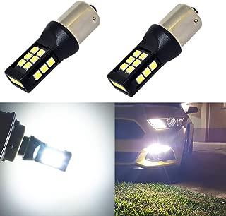 Alla Lighting BAY15D 1157 White LED Bulbs Xtreme Super Bright 7528 2357 1157 LED Bulb High Power 3035 21-SMD 6000K Xenon LED 1157 Bulb for Turn Signal Back-Up Reverse Brake Stop Tail Lights
