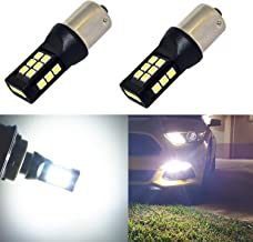 Alla Lighting BA15S Base 1156 White LED Bulbs Xtreme Super Bright P21W 7506 1141 3497 LED Bulb 12V - 24V 3035 21-SMD 6000K Xenon LED 1156 Bulb for Cars RVs Turn Signal Back-Up Reverse DRL Brake Lights