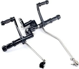 TARAZON Billet CNC Forward Controls Foot Pegs for Harley Davidson Sportster 883 1200 Custom XL C Lower XL N Iron 883 Forty Eight 883 2004 2005 2006 2007 2008 2009 2010 2011 2012 2013