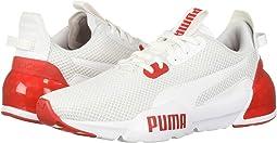 PUMA White/High-Risk Red