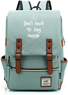 Children's Backpack Teenage Junior High School Student Bag Harry Potter Ligero Impermeable Oxford Tela Mochila Medio Verde C