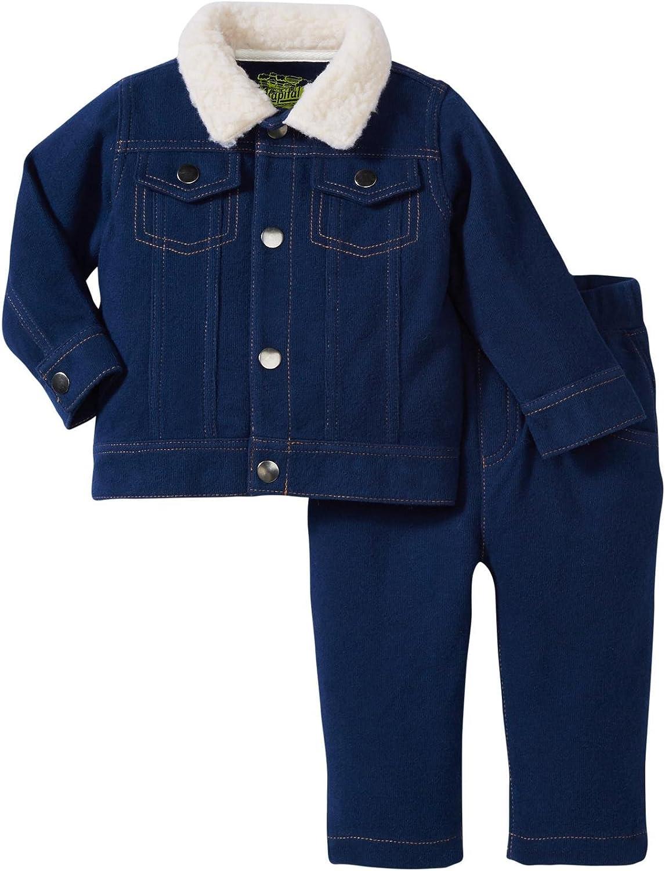 Kapital K Baby Boys' Rib Jacket/Pant Set (Baby) - Midnight Navy - 24 Months