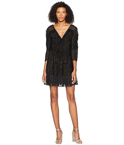 Rachel Zoe Kaya Dress (Black/Gold) Women