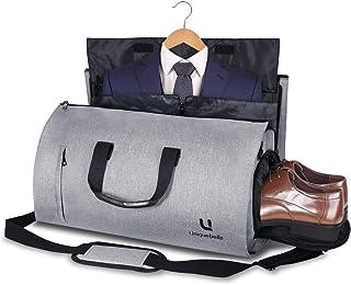 Carry-on Garment Bag Large Duffel Bag Suit Travel Bag Weekend Bag Flight Bag with Shoe Pouch for Men Women