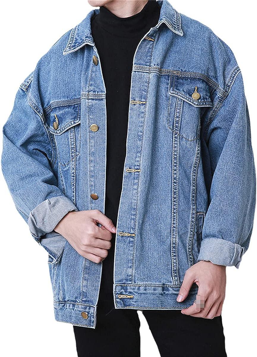 Autumn And Winter Korean Loose Denim Jacket Men's Retro Tooling Washed Student Youth Jacket Men's