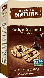 Back to Nature Cookies, Non-GMO Fudge Striped Shortbread, 8.5 Ounce