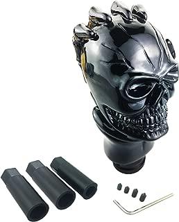 Arenbel Gear Stick Shifter Knob Skull Shifting Shift Lever Head fit Universal Manual Automatic Transmission Cars, Black