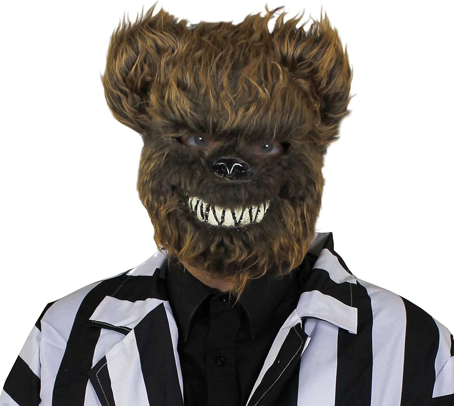 ADULT BROWN BEAR HALLOWEEN MASK  PERFECT ACCESSORY FOR CREEPY HALLOWEEN FANCY DRESS  ADULT ONE SIZE FITS MOST  PACK OF 6