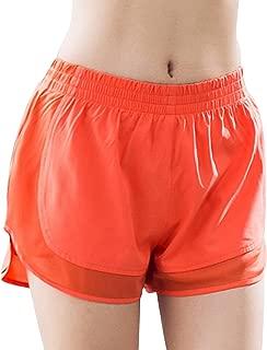MTSCE Women's Yoga Shorts Yoga Pants Gym Workout Running Shorts (Medium,  Orange)