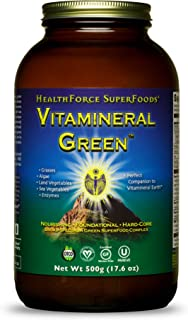 Sponsored Ad - HealthForce SuperFoods Vitamineral Green Powder - 500 Grams - All Natural Green Superfood Complex with Vita...