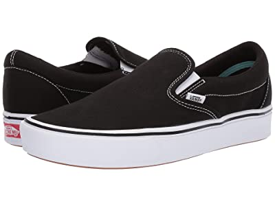 Vans ComfyCush Slip-On ((Classic) Black/True White) Athletic Shoes