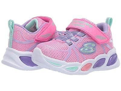 SKECHERS KIDS Sport Lighted Shimmer Beams Sporty Glow 302042N (Toddler) (Pink/Multi) Girl