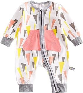 Bebone Baby Boy Girl Cartoon Print Romper Zipper Front Bodysuit