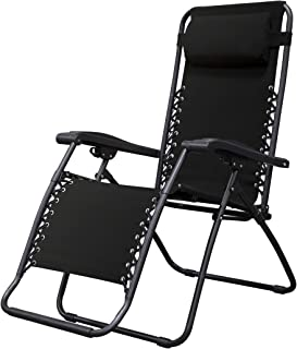 Caravan Sports Infinity Zero Gravity Chair, Black (Renewed)