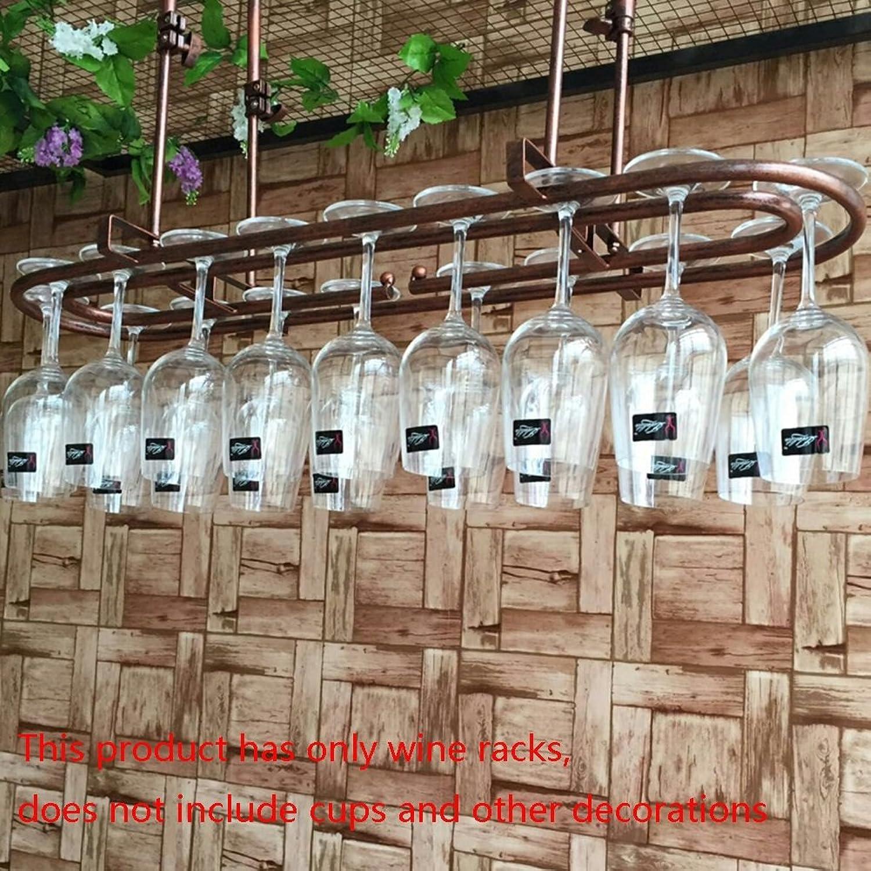 YYHSND Home Goblet Shelf Bar Table Decoration Wine Glass Holder Hanging Cup Holder Hanging Cup Holder red Wine Rack (color   Bronze, Size   60  25cm)