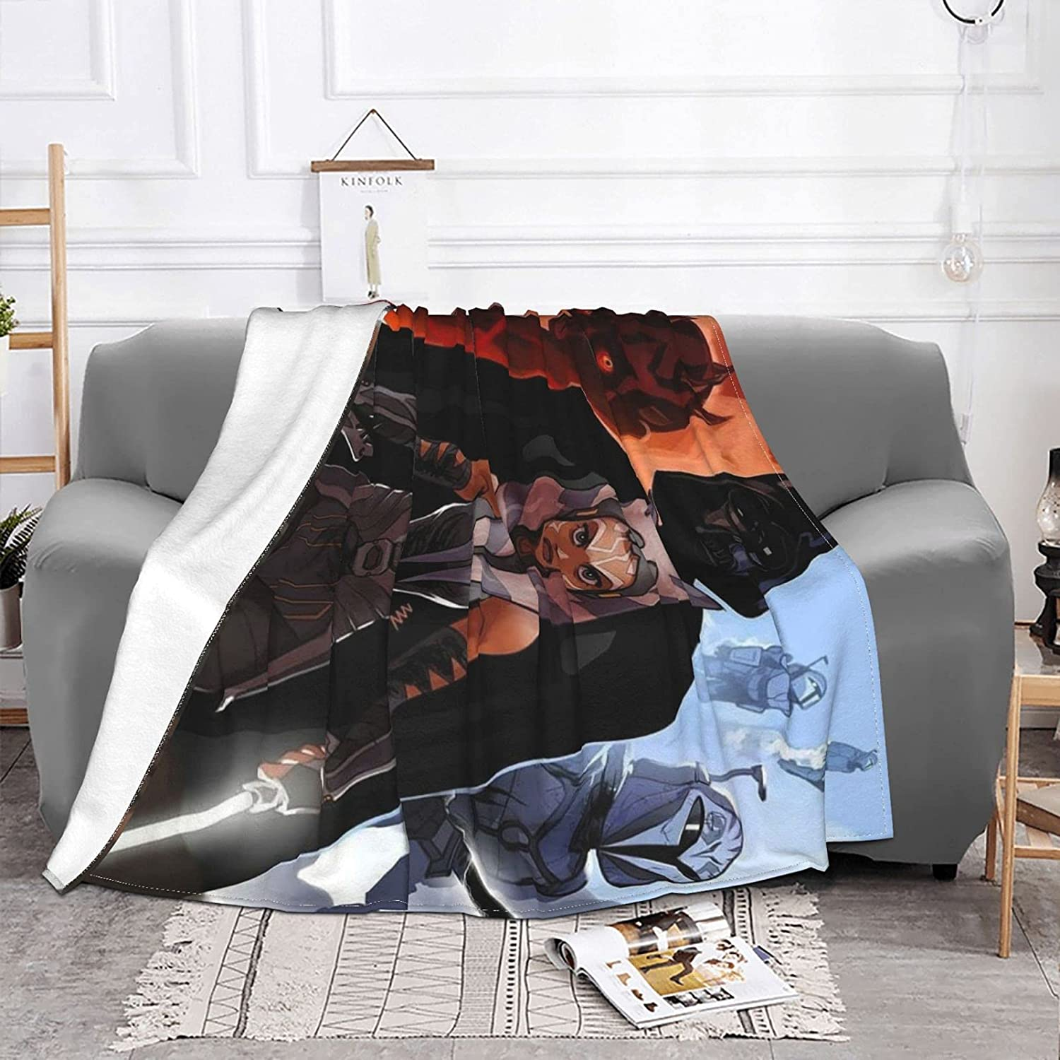 ZWFriend Darth Maul Flannel Inventory cleanup selling sale Fleece 3D Print Blanket Ranking TOP14 Pompom with