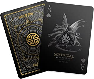Mythical Creatures – Black Silver & Gold Edition Playing Cards by Gent Supply