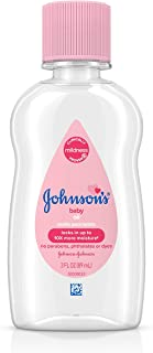 Johnson's Baby Oil, Pure Mineral Oil to Prevent Moisture Loss, Original 3 fl. oz