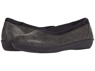 Clarks Ayla Low (Black Snake Print Synthetic) Women