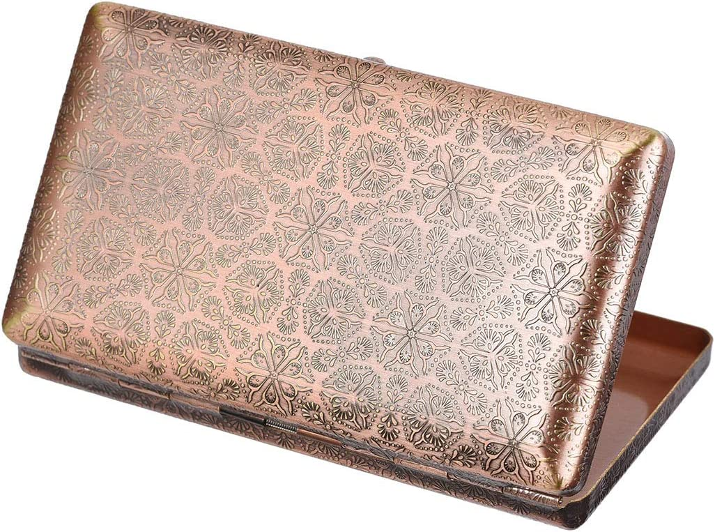 6 Sides Engraved Flowers Indefinitely Solid Cigarett Metal Double Sided Sales results No. 1 Brass