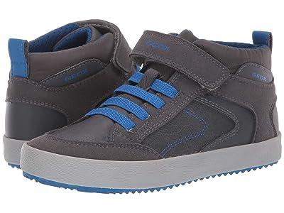Geox Kids Jr Alonisso 41 (Little Kid/Big Kid) (Dark Grey/Royal) Boys Shoes
