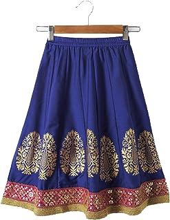 Srishti By FBB Gold Print Kalidar Skirt