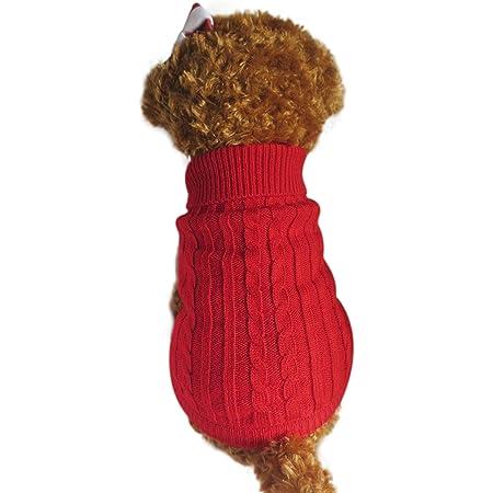 warmer Mantel Winterpullover f/ür kleine Modischer gestreifter Hundepullover mittelgro/ße und gro/ße Hunde Strickwolle
