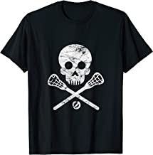 Skull and Crossbones - Lacrosse Stick - Cool Lacrosse Shirt