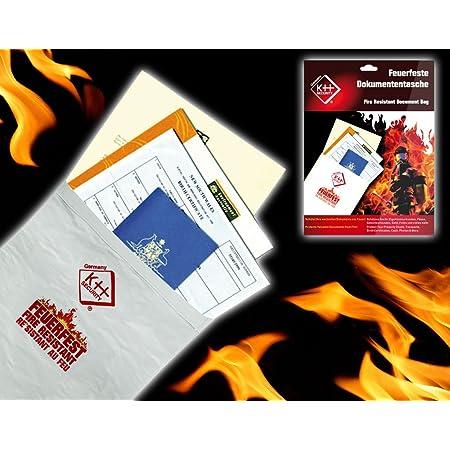 Feuerfeste Dokumententasche mit Passwortschl/üssel 3-lagige Aufbewahrungstasche Set zur Aufbewahrung von Diplomen,Zertifikaten,P/ässen,Karten,Vertr/ägen,Gesch/äftsb/üchern,Juristischen Dokumenten,Memoiren