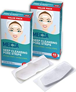 Deep Cleansing Blackhead Pore Strips - Pack of 96 Peel - Off Blackhead Remover and Pore Unclogging Strips for Nose and Fac...