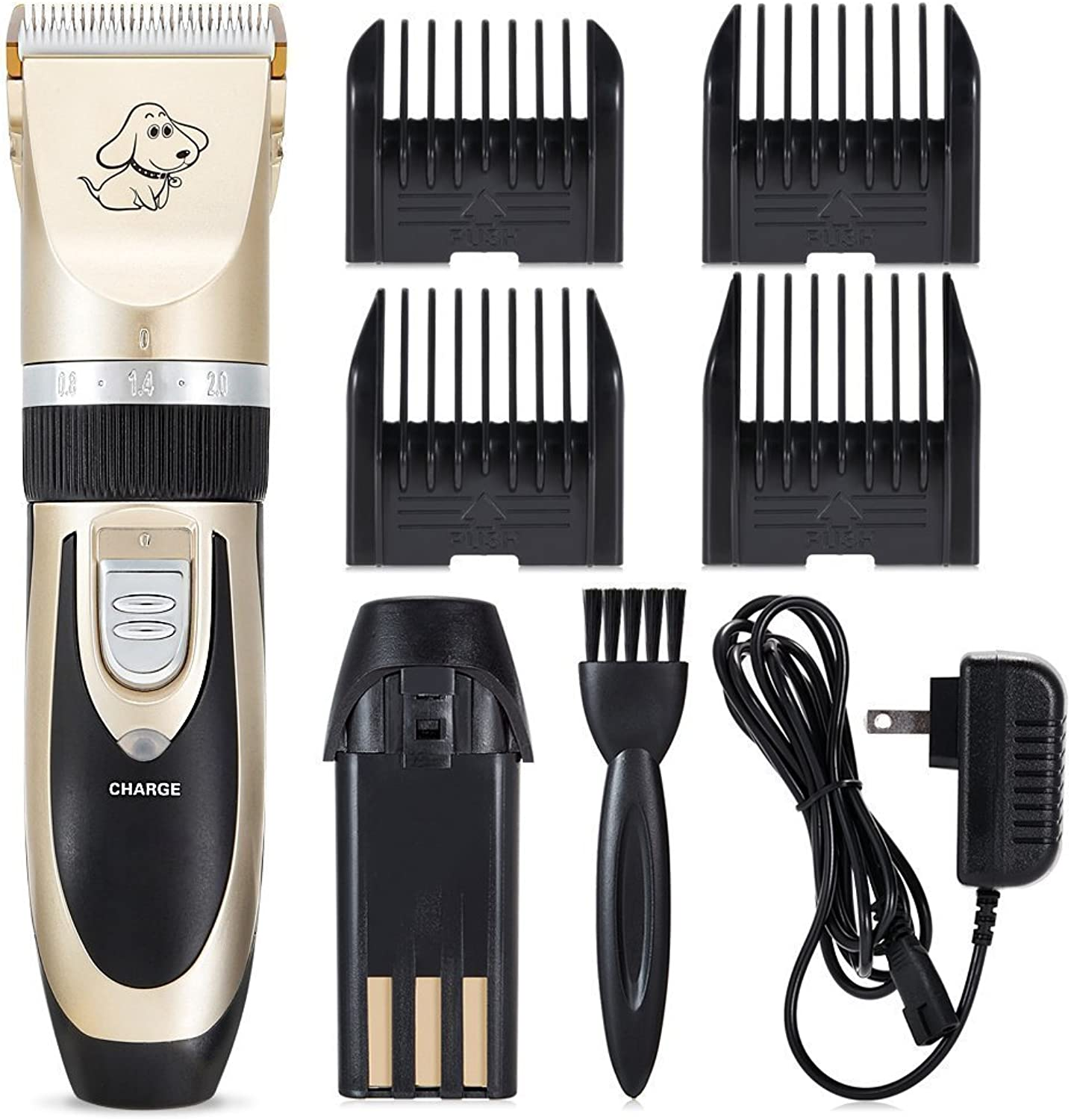 FIVE STAR Pet Grooming Clippers Dogs and Cats Electric Clippers Grooming Trimming Kit Set Low Noise Rechargeable Cordless Clippers Grooming Trimming Kit Set for Large Medium Small Dogs and Cats