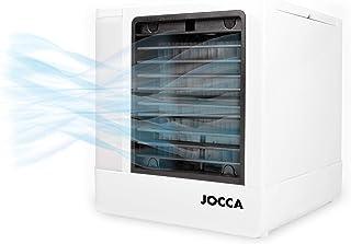 JOCCA 1228 Mini aire acondicionado portátil 3 en 1 USB, humidificador, purificador con 4 colores LED nocturno, PP, blanco