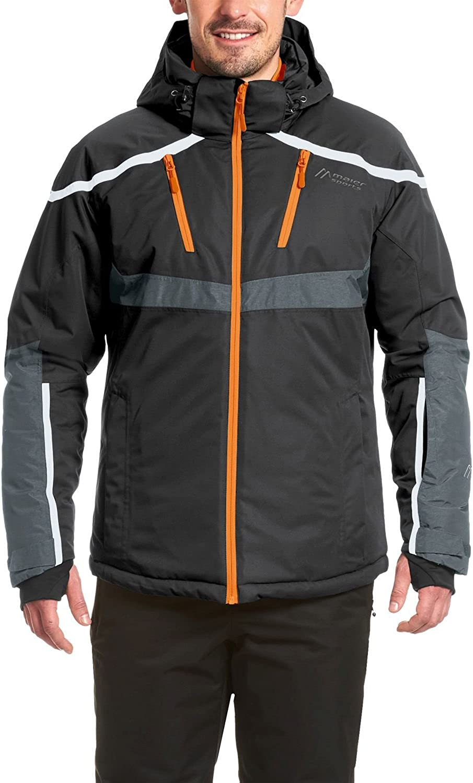 Maier Sports Herren 116976-9199 Skijacke He-Jacke mTex Tarasp schwarz grau rot