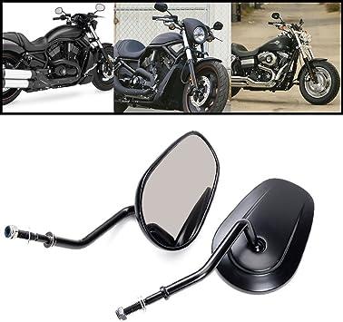 Anzene Höchste Qualität Chrom Rückspiegel Für Harley Davidson Flstc Fxdb Dyna Fxdf Flstf 8mm Chrom Auto