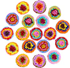 "Supla 18 Pcs Fiesta Paper Flowers Pom Poms Flowers Tissue Pom Poms Fiesta Flower Tissue Centerpiece 15.4"" Wide for Mexican..."